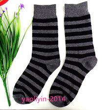 1Pairs Mens Socks Lot Classic Cotton Casual Dress Stripes Socks 23*22cm AWZ118**