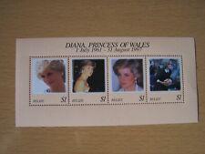 Belize,Diana,1997,M/Sheet Of 4 Vals,U/Mint,Excellent.
