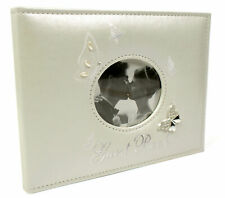 Cream/Ivory Suede Wedding Guest Book With Butterflies New Boxed 71134