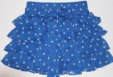 NWT HOLLISTER by Abercrombie Womens Chiffon Sheer Polka Dot Mini Skirt Blue S