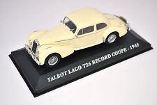 Voiture modèle réduit collection 1/43ème Talbot Lago T26 Record coupé de 1948