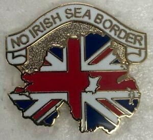 NO Irish Sea Border Union Jack lapel Badge Loyalist Ulster