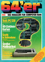 64er - 4/85 1985 - Magazin Heft Commodore 64 128 C64 C128
