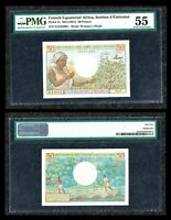 FRENCH EQUATORIAL AFRICA 1957 P#31 50 FRANCS PMG: 55 ABOUT UNCIRCULATED
