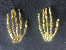 2pairs New fashion jewelry accessories vintage gold big palm stud earring best