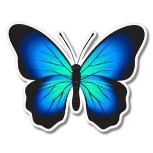 Blue Butterfly Colorful Beautiful Car Laptop Phone Vinyl Sticker  - SELECT SIZE