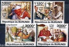 BURUNDI 2011 MNH 4v, Pope Benoit XVI, Religion (J139)