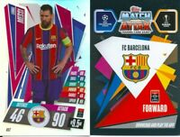 2020/2021 uefa champions league match attax lionel messi oversized card
