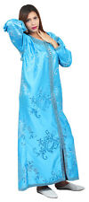 Caftan Kaftan Handmade Moroccan Dress Gown Embroidery Fancy weding Takchita Blue