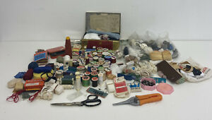Huge Bundle Of Vintage Sewing Box Contents - From 5 Sewing Boxes