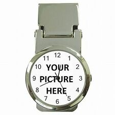 Money Clip Card Holder Watch Custom Personalized YOUR PICTURE PHOTO LOGO