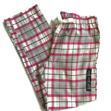 GAP BODY Size S Lightweight-Flannel Cotton Sleep Pants Pink White Gray Plaid NEW