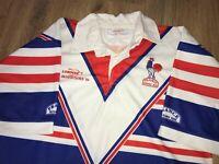 France 13 Rugby League rare vintage 1994 Lorimar Match worn #1 shirt size L-XL