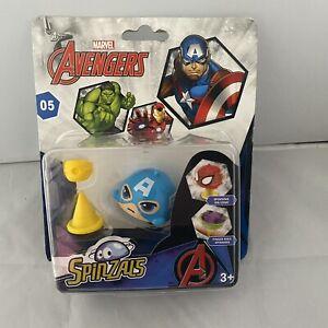 Marvel Avengers Superhero Spinzals Toy Spinning  Captain America *NEW & SEALED*