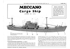 Meccano Model Plan 10.4 Cargo Ship