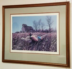 Vintage Neal Anderson Print: Hiding Out 1987 84/650 Pencil Signed 27 x 22.5