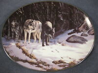 The Trackers Collector Plate Winter Shadows Persis Clayton Weirs Wolves Bradford