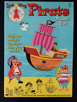 Vintage Whitman Let's Play Pirates Paper Dolls Punch Out Book Push Out 1964(?)