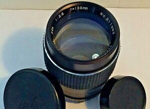 Coastar Dyna-Coated Optics f/2.8 135mm Prime Camera Lens Fits Minolta MD Mount