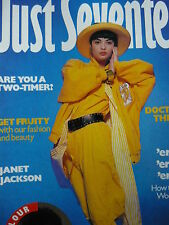 JUST SEVENTEEN MAGAZINE 21/5/86 - PAUL YOUNG - JANET JACKSON
