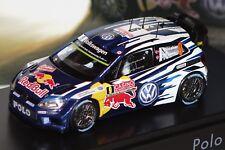 VW Polo R WRC 2015 Mikkelsen/Floene #9 1:43 Spark/VW 6C1.099.300.C neu & OVP