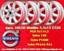 4 Cerchi Volvo 120, P1800, PV444/544 5.5x15 5x114.3 Wheels Felgen Llantas Jantes