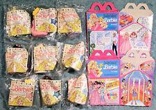 1990 McDonald's Happy Meal Toys -  BARBIE  - Mint Set (8) + U-3 + 2 Boxes