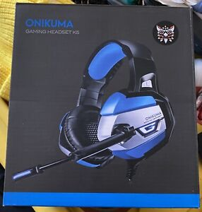 ONIKUMA K5 Stereo Gaming Headset Portable Headphones with Mic Blue