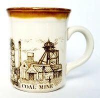 Vintage Biltons England Coffee Cup Mug Coal Mine Scene