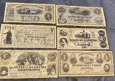 Confederate Currency Lot-(6)-Copys Currency Notes!