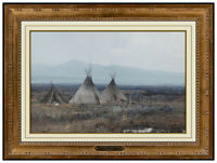 Michael B. Coleman Original Painting On Board Signed Native American Landscape