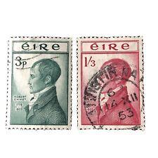 IRELAND, SCOTT # 149/150(2), COMPLETE SET ROBERT EMMET 1953 ISSUE USED