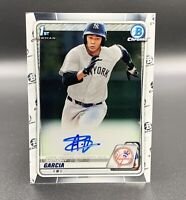 Anthony Garcia Auto 2020 1st Bowman Chrome CPA-AG RC New York Yankees MLB
