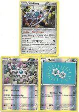KLINKLANG (Holo)+KLANG (RH)+KLINK (RH)- 3 XY Steam Siege EVO Pokemon Cards