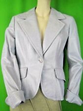 MAX MARA ITALY Embossed Pale Lilac Lamb Leather Jacket New, sz 8 (40)