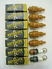 Lot of 7 Nos 1950's Autolite B-7 Spark Plugs Motorcycle Harley Indian Henderson