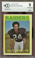 1972 topps #28 WILLIE BROWN oakland raiders BGS BCCG 9
