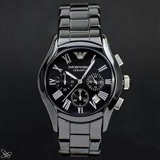 Emporio Armani Ceramica Reloj de hombre AR1400 Cronógrafo color: Negro