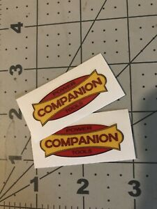 """Companion Sears Power Tools Decal  1 7/8"""" 2 for 1 reproduction"""
