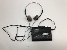 Panasonic Rq-V180 Portable Cassette Tape Player and Am/Fm Radio W/headsets