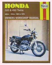 Man211 Haynes Manual Para Honda Cb Cl Cb450 cl450 & Cb500 Twins 1965 a 1978