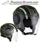casque Agv Fluid Chicago noir jaune moto casque jet casque capacete