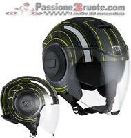 Helmet Agv Fluid Chicago black yellow moto casque jet helm capacete