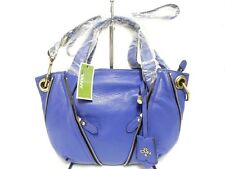 orYANY Pebble Leather Lian Satchel, Royal, Gold Tone Hardware, Back Slip Pocket