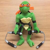 "Teenage Mutant Ninja Turtles TMNT Michelangelo Poseable 12"" Plush Play by Play"