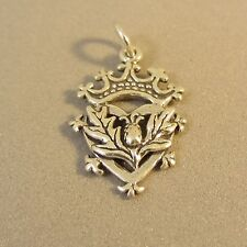 .925 Sterling Silver CELTIC SYMBOL CHARM Pendant Leaf Crown Heart NEW 925 FA39