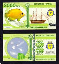 ILES GLORIEUSES ● TAAF / COLONIE ● BILLET POLYMER 2000 FRANCS ★ N.SERIE 000010