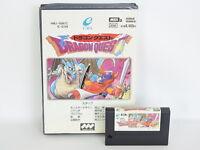 DRAGON QUEST 1 White No instruction ref/2201 MSX 2 msx2 Japan Game msx