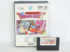DRAGON QUEST 1 White No instruction ref/2201 MSX 2 msx2 Japan Game msx
