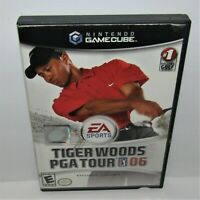 Tiger Woods PGA Tour 06 (Nintendo GameCube, 2005) Complete Worn Cover Art Tested